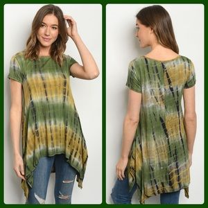 2 for $40❤️green and yellow tie-dye top